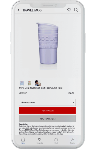 Get a demo of a mobile shopping app